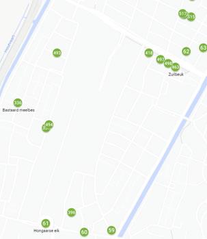 Bomen water geven in de wijk Klein Zuid West - 2020